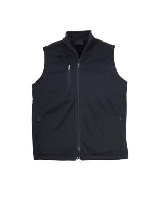 Mens-BIZTECH-Plain-Soft-Shell-Vest